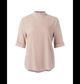 YaYa Back Zip Mockneck 1/2 Sleeve Blouse (Multiple Colours)