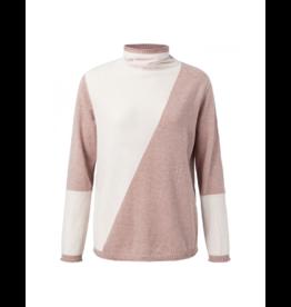 YaYa Asymmetric Detail Rollneck Sweater
