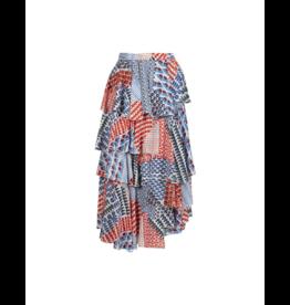 Anonyme Sandra Tiered Ruffle Midi Skirt
