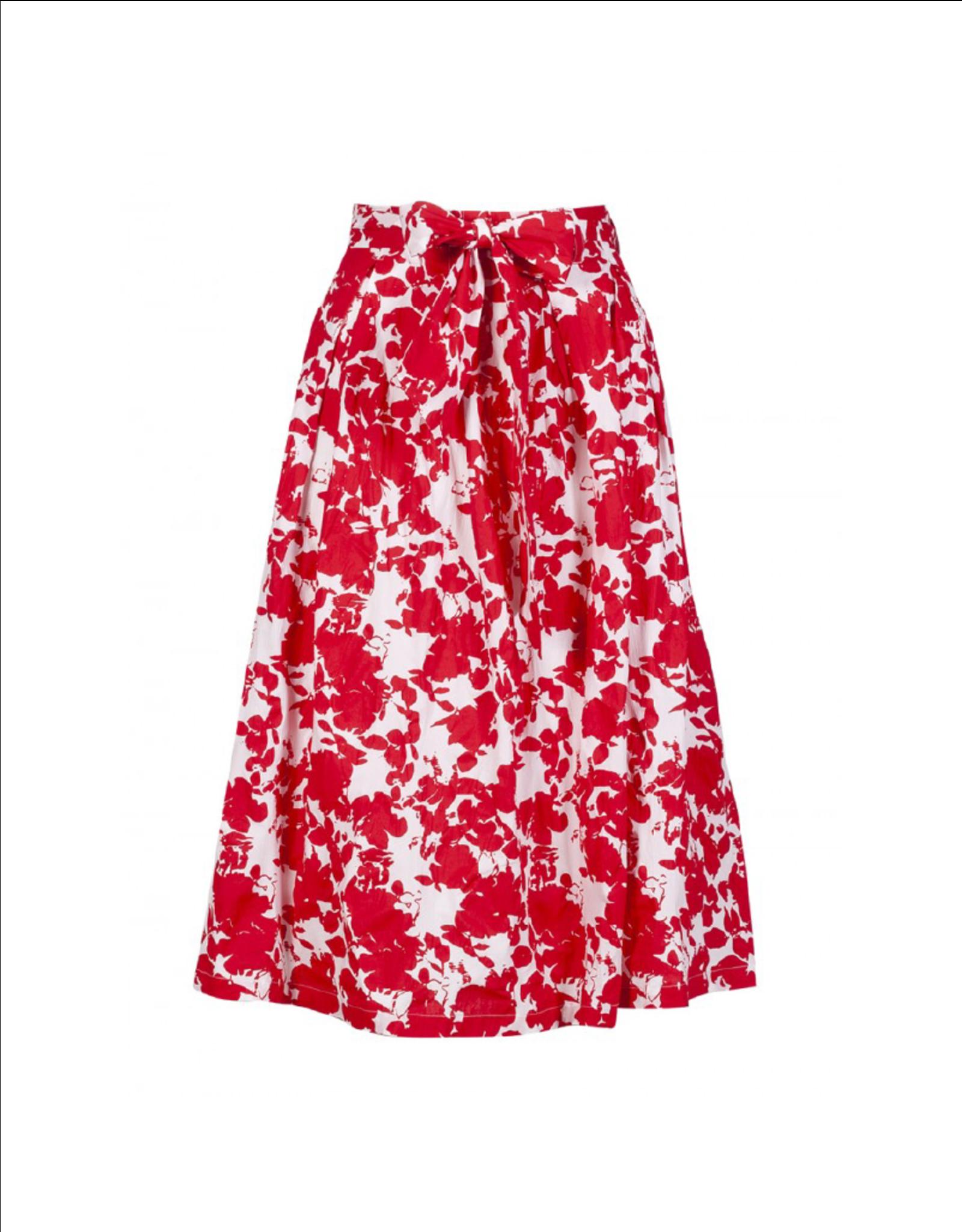 Anonyme Susana Cotton Pocketed Midi Skirt