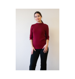 SBase Mockneck 3/4 Sleeve Pima Top (Multiple Colours Available)