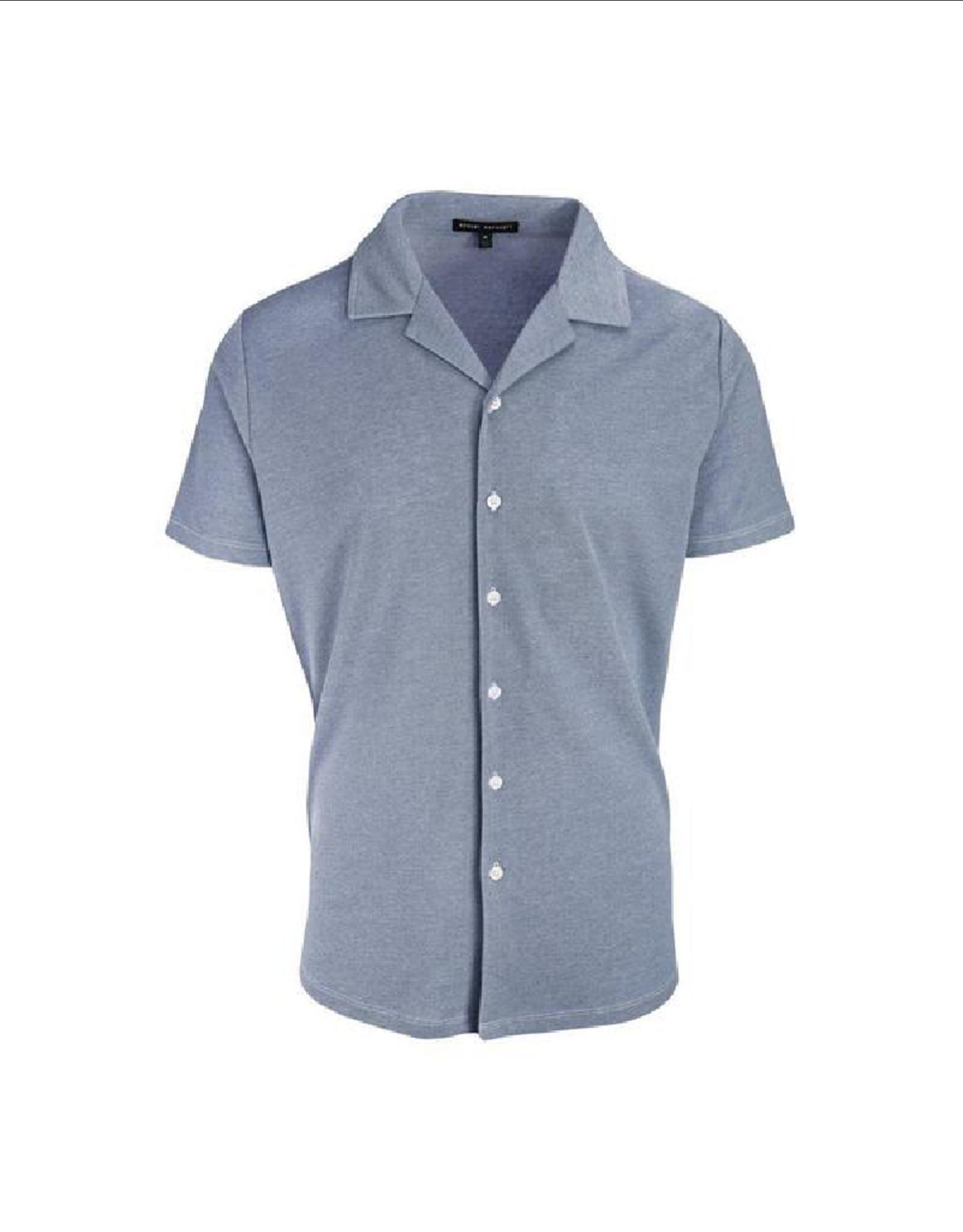 Robert Barakett Filmore Bowler S/S Button Up Knit Shirt