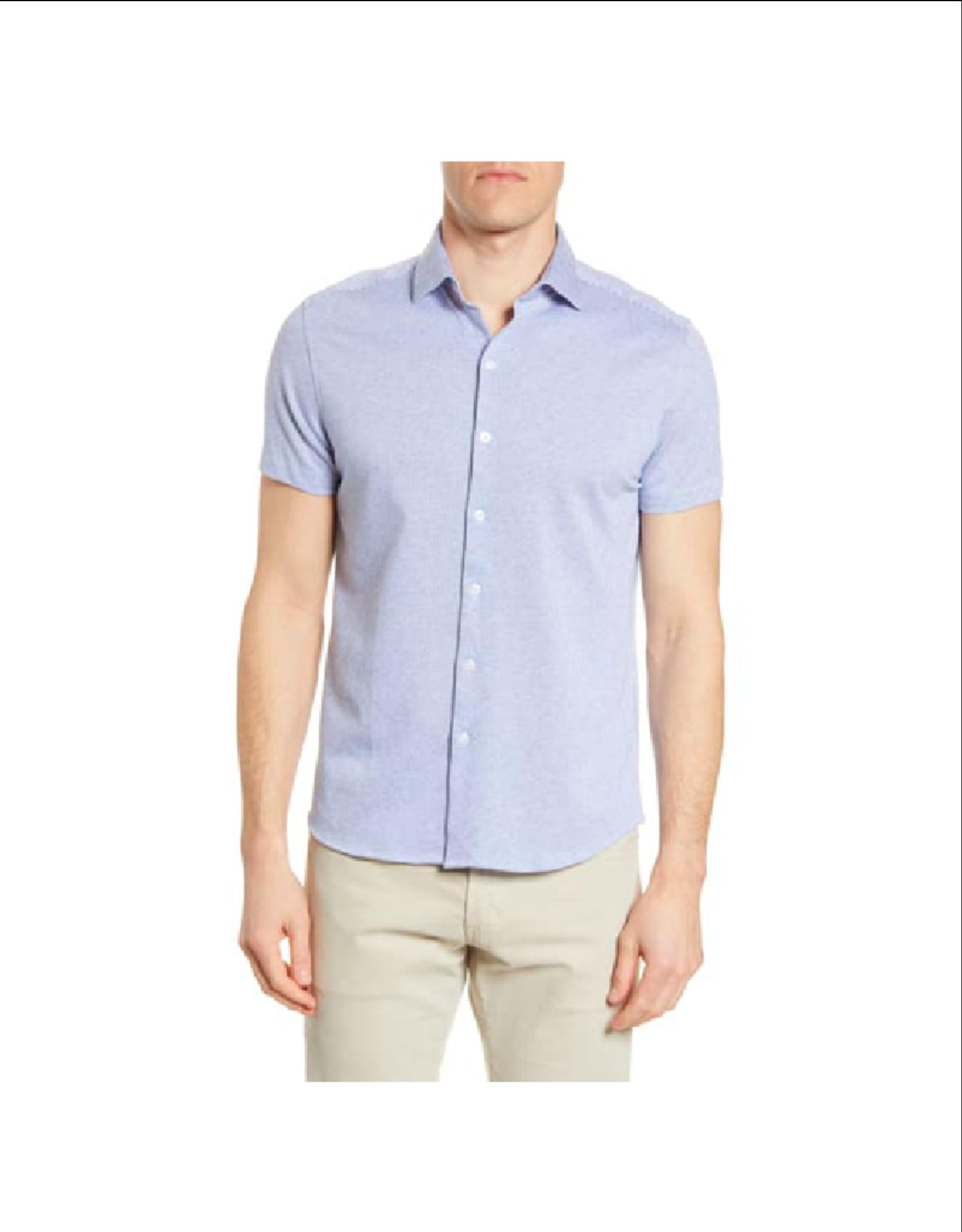 Robert Barakett Willem Short Sleeve Button Up Knit Shirt