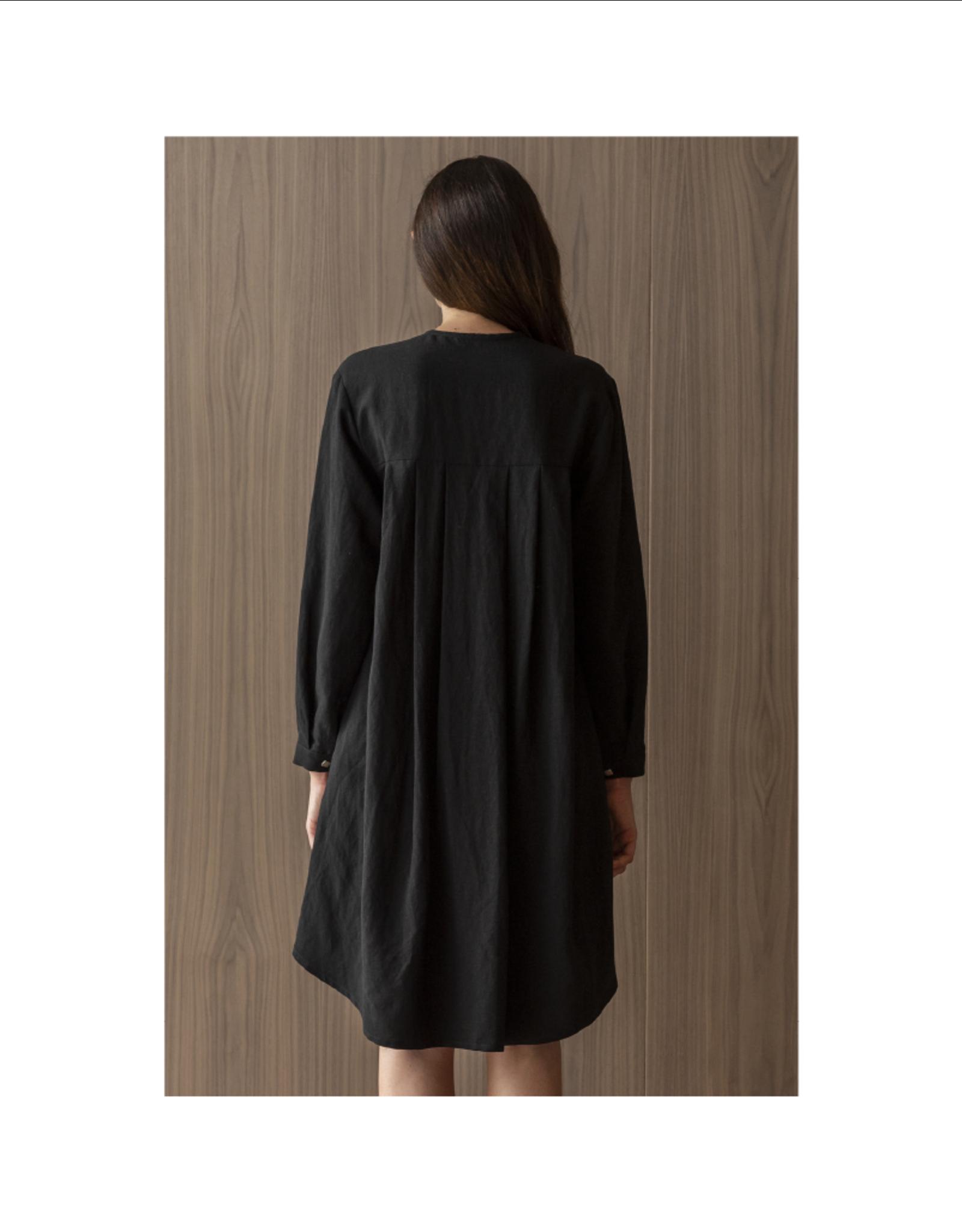 Bodybag Bay Club Roll Sleeve Linen Dress