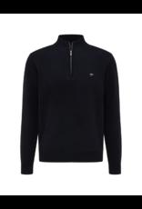 Fynch Hatton Troyer Cotton 1/4 Zip Sweater