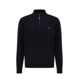 Fynch Hatton Troyer Cotton 1/4 Zip Sweater