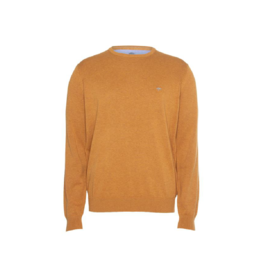 Fynch Hatton Roundneck Golden Cotton Sweater