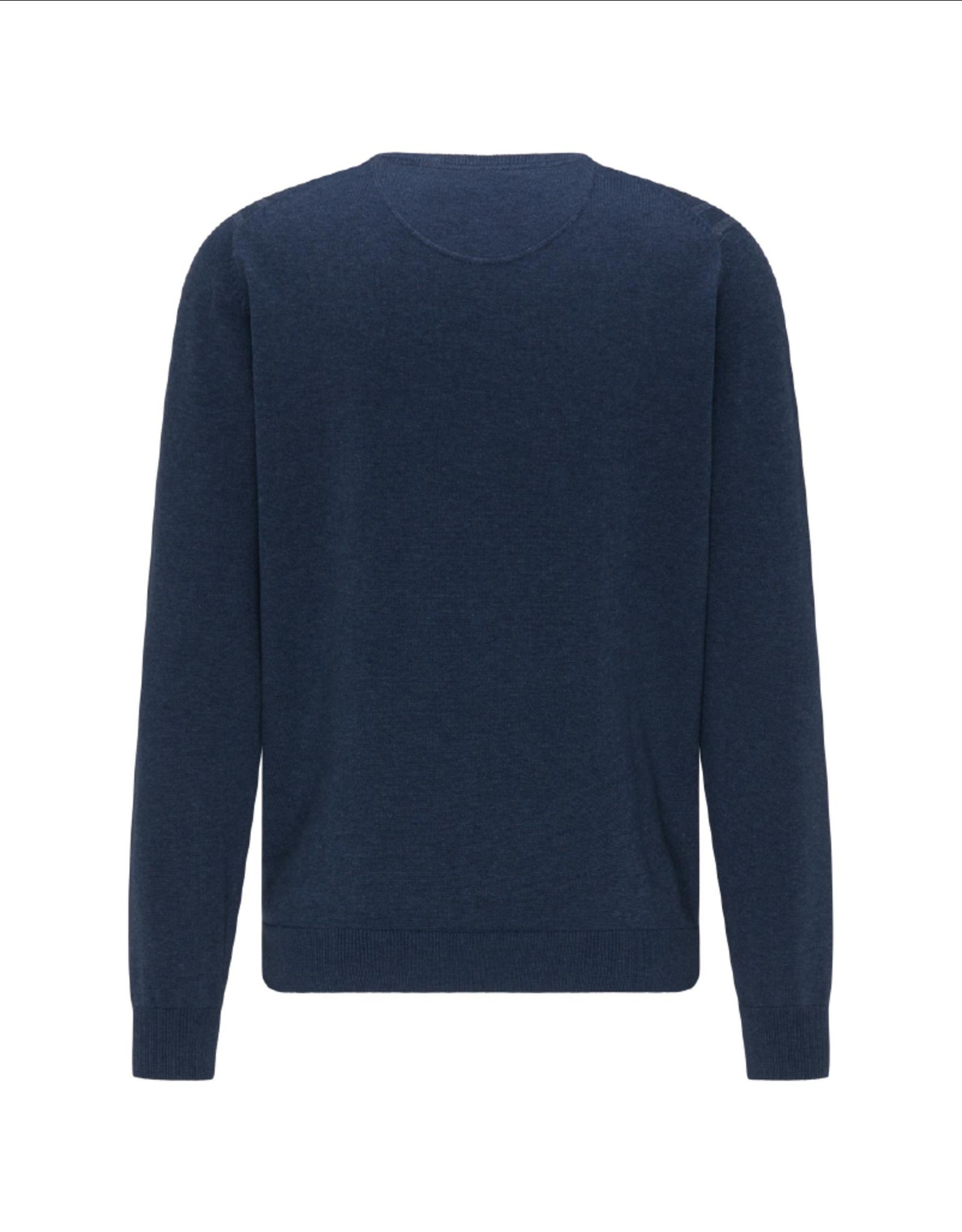 Fynch Hatton Roundneck Plaid Cotton Sweater