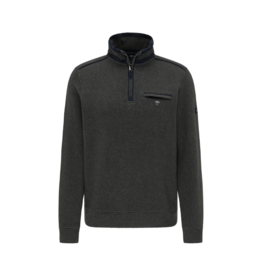 Fynch Hatton Troyer Fleece 1/4 Zip Top Pesto