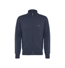 Fynch Hatton Zip Up Cotton Cardigan (Multiple Colours Available)