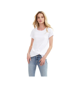Bobi Long Front Twist Tee (Multiple Colours Available)