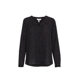 B. Young V-Neck Polka Dot Blouse