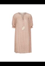 Cream Flowy Sheer Dress w/Slip