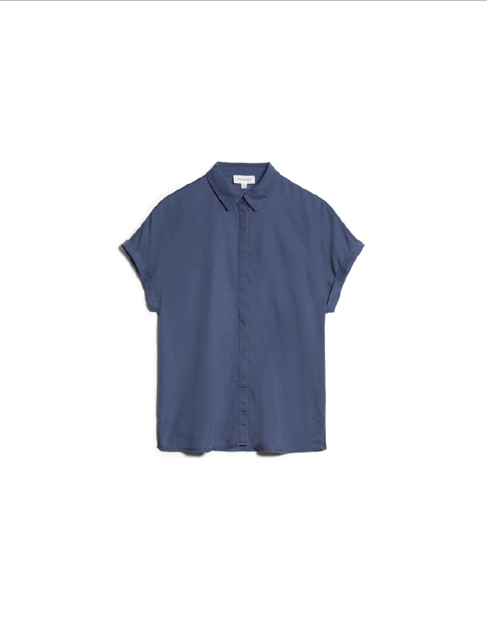 Armedangels Cap Sleeve Button-Up Top