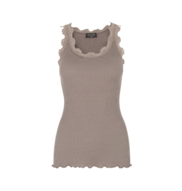 Rosemunde Lace Roundneck Silk/Cotton Tank (Multiple Colours)