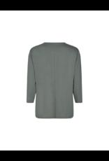 Soya Concept V-Neck Button 3/4 Tee