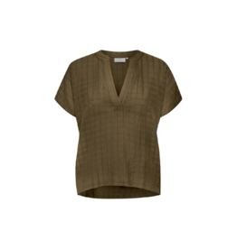 kaffe Windowpane S/S Blouse (3 Colours Available)