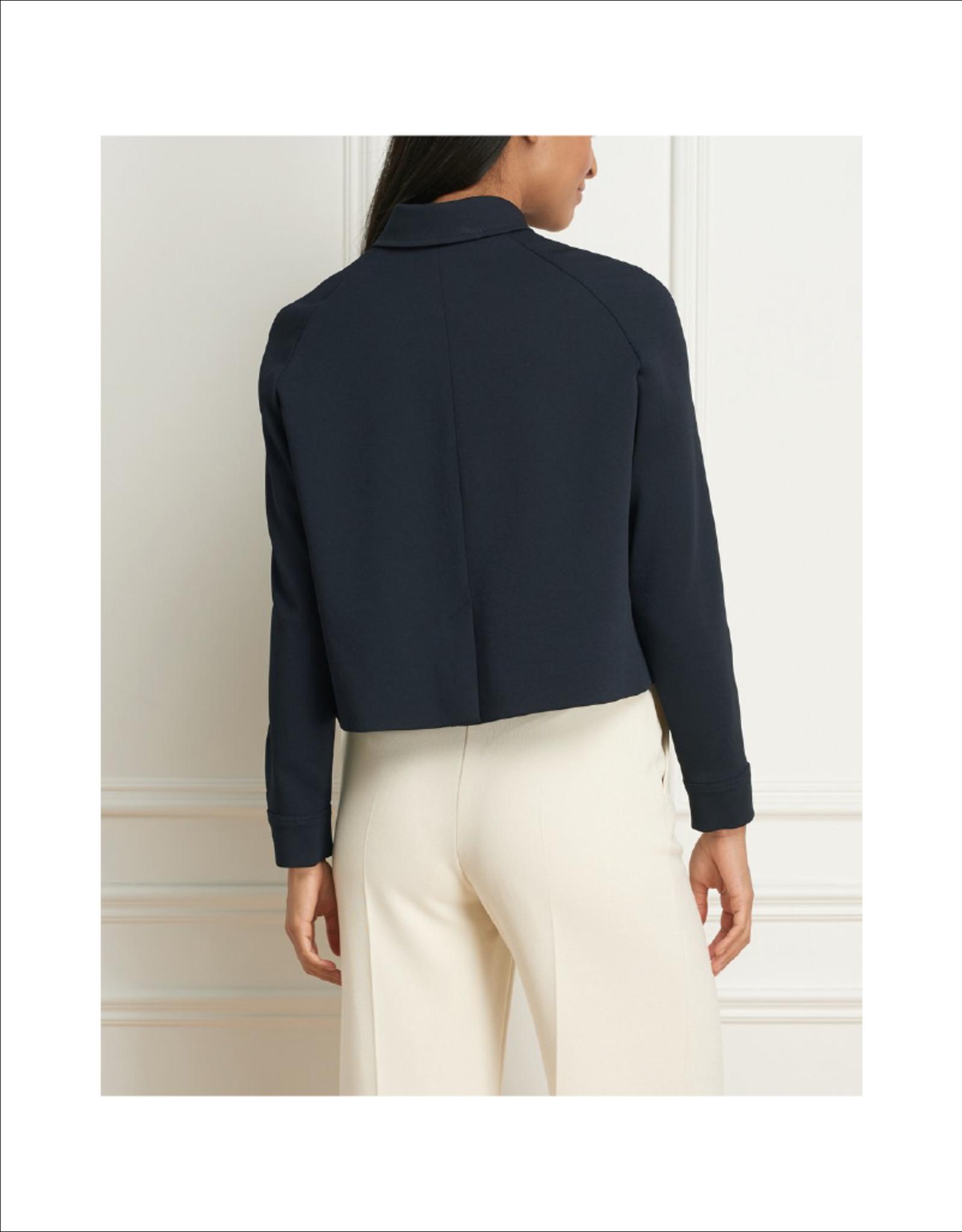 Iris Crinkle Weave Crop Jacket