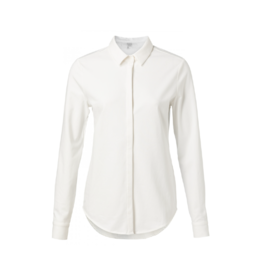 YaYa Covered Placket Knit Blouse