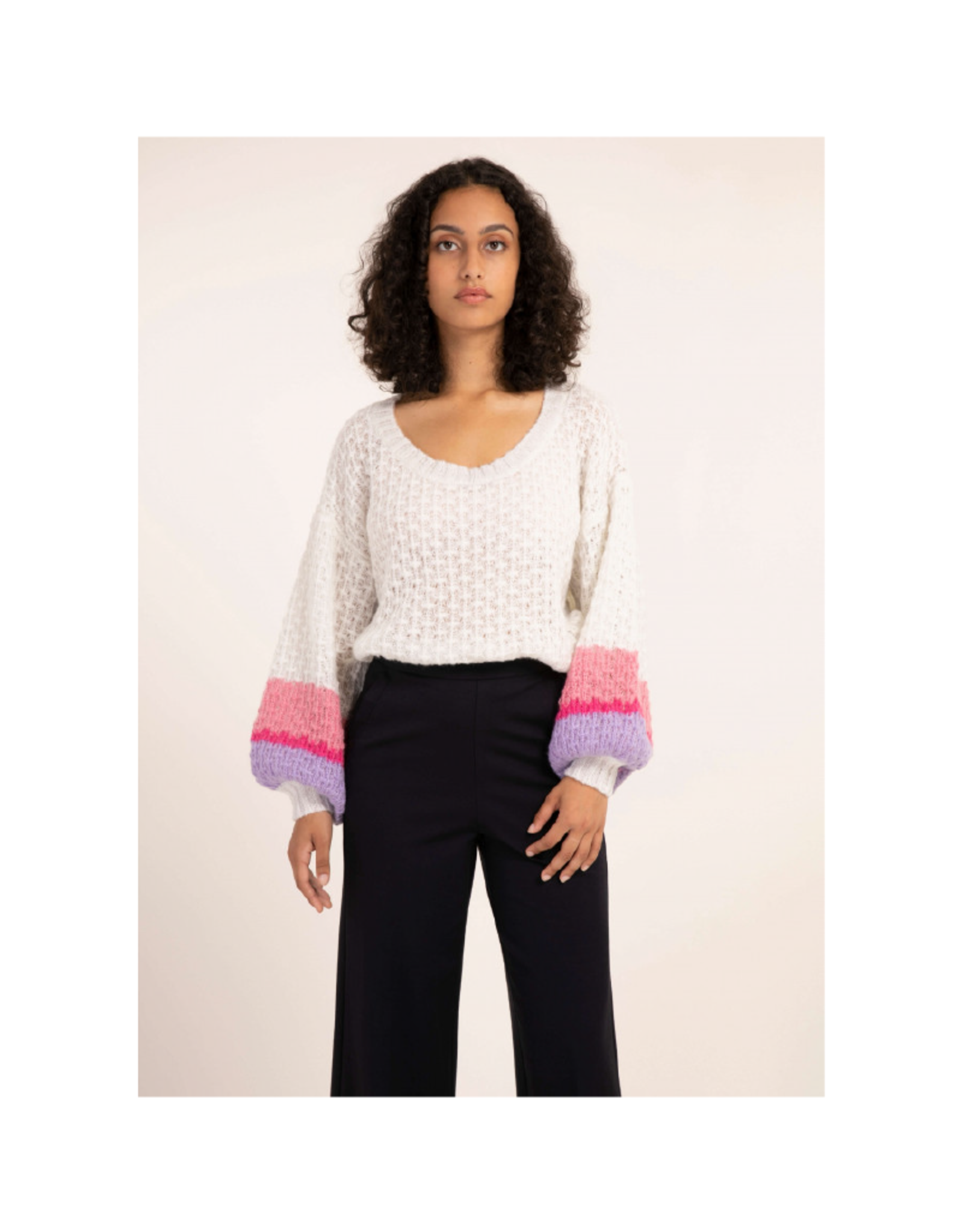 FRNCH Nyna Balloon Sleeve Sweater