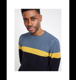 White Stuff Stripe Waffle Sweater