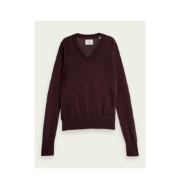 Maison Scotch Thin V-Neck Sweater (2 Colours Available)