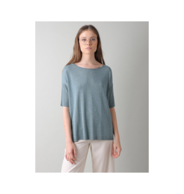 Indi & Cold Rib Hem Light Sweater
