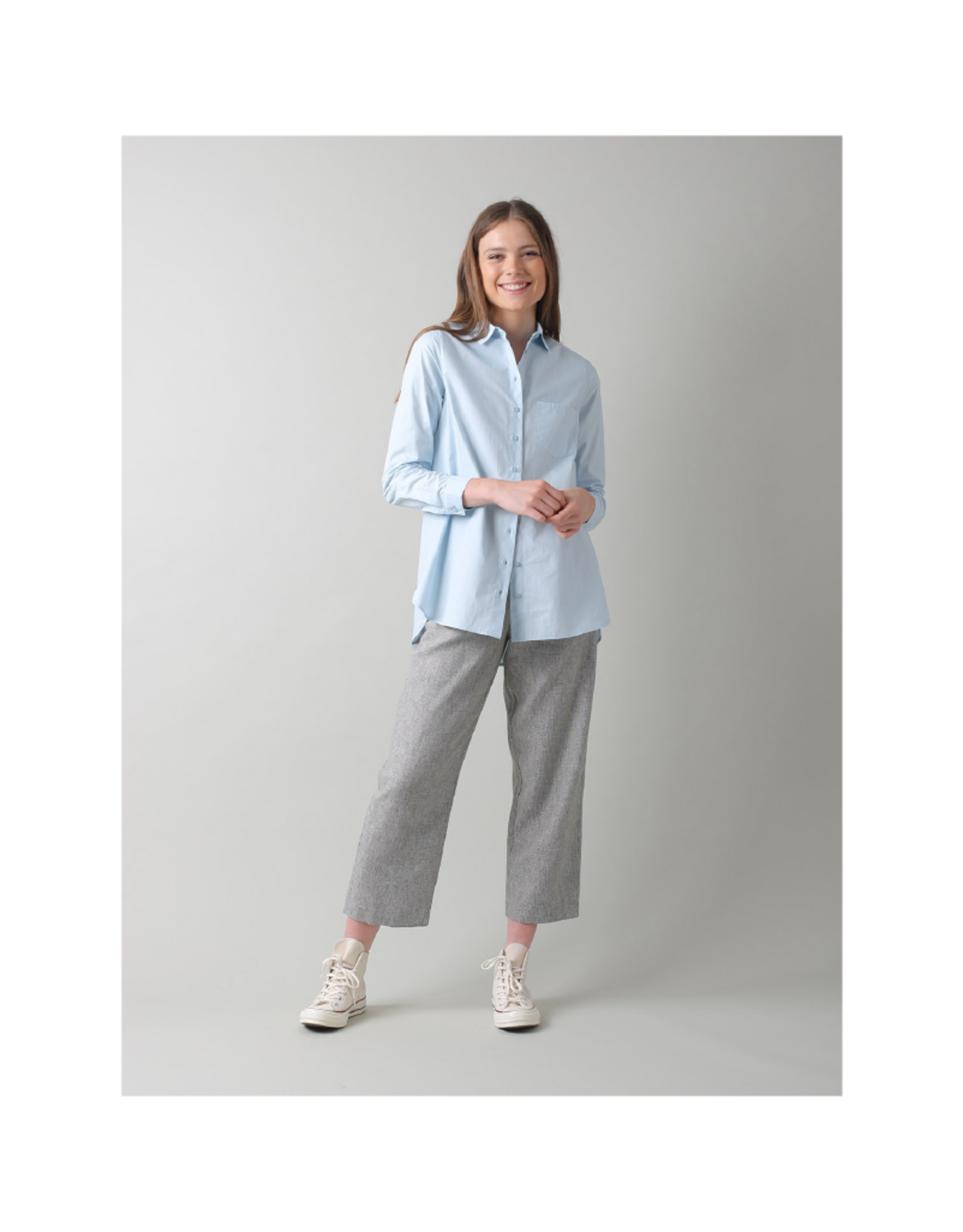 Indi & Cold Oversize Button Blouse