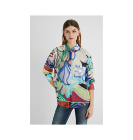 desigual Abstract Cotton Blouse