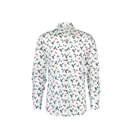 Fish Named Fred Parrots L/S Button Up