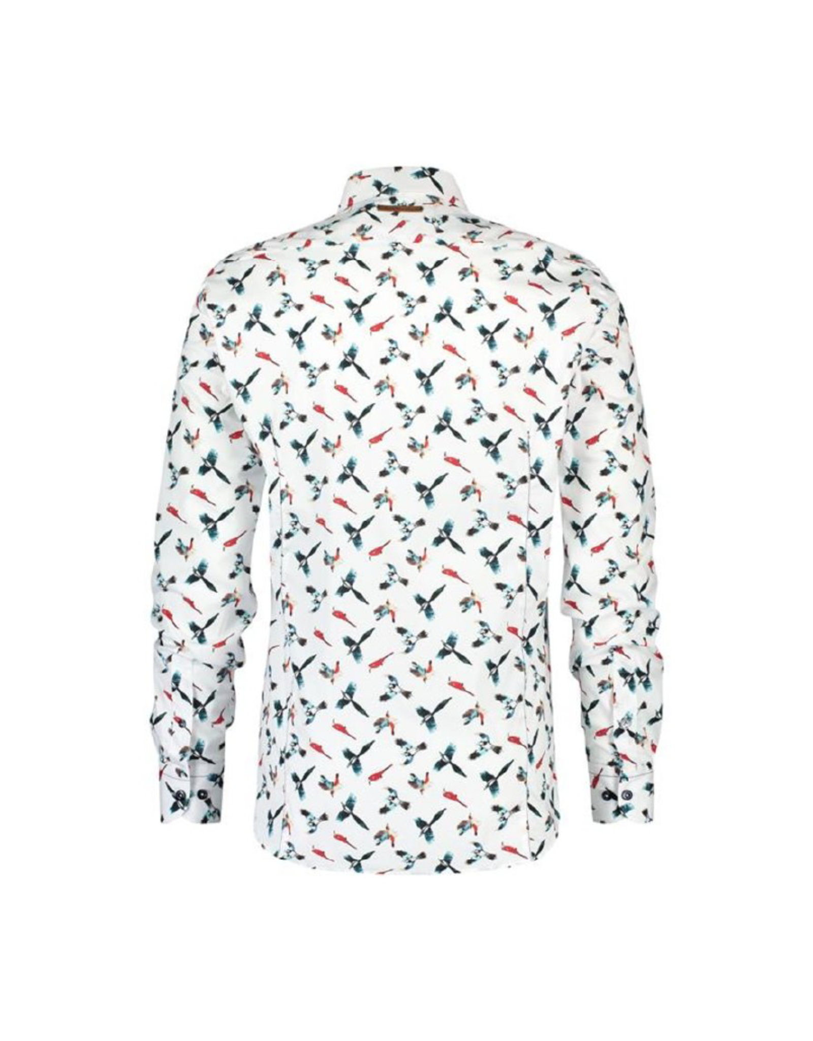 Fish Named Fred Parrots Long-Sleeve Button Up
