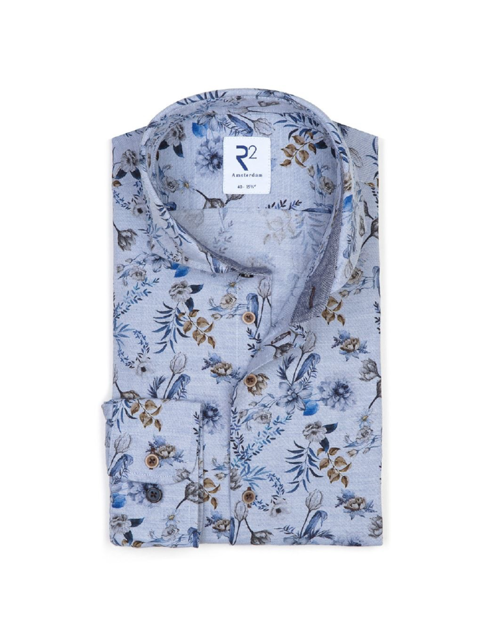 R2 Floral Long-Sleeve Button Up