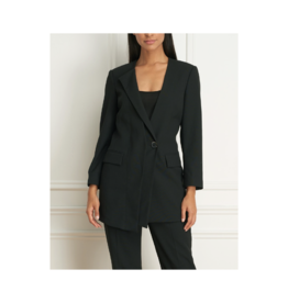 Iris Asymmetrical Single Button Blazer