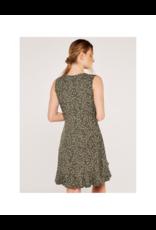 Apricot Ruffle Layer Wrap Dress