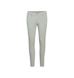 Cream Shaped Fit Mid-Rise Pant