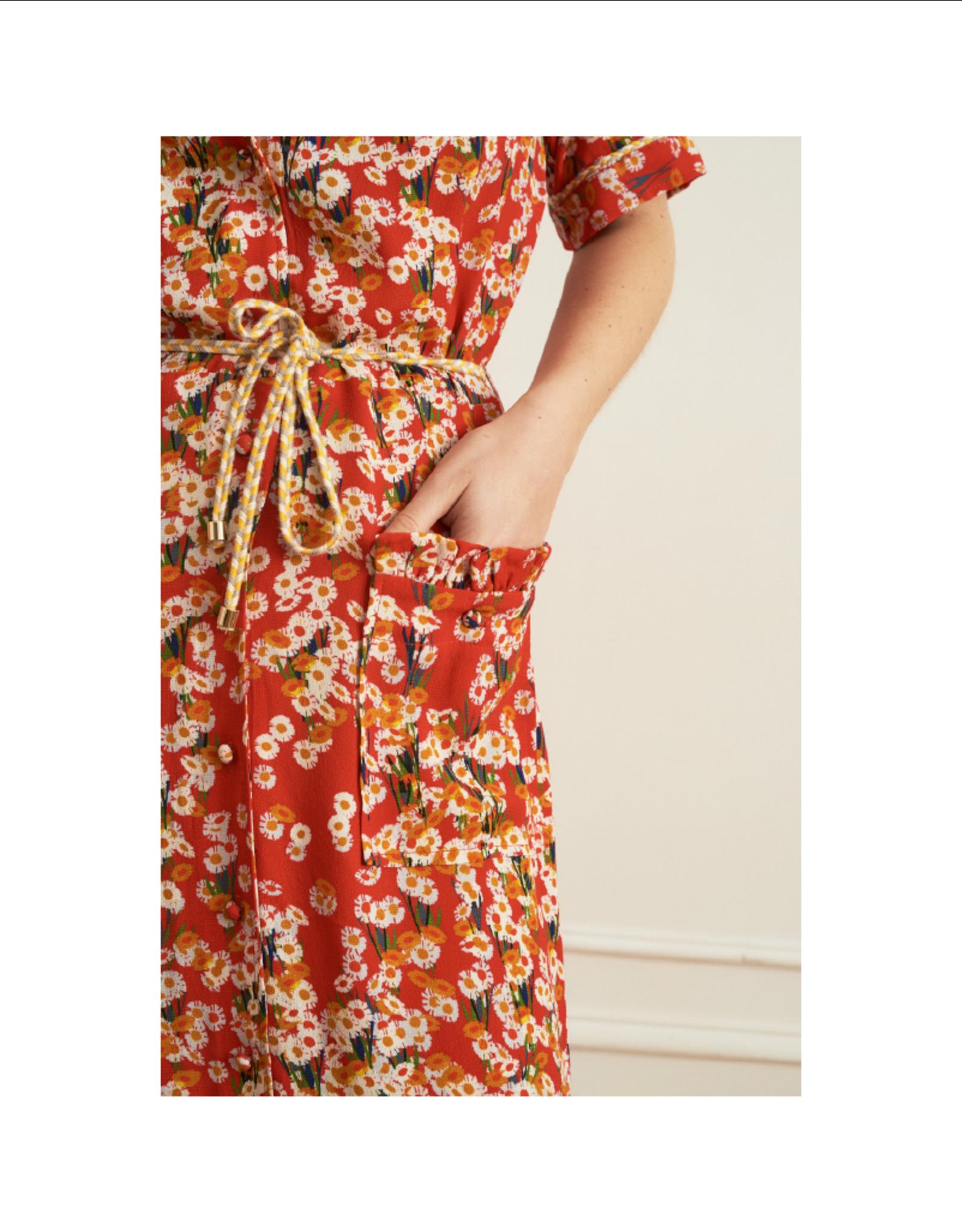 La Petite Francaise Ressource Front Pocket Ruffle Floral Dress