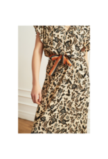 La Petite Francaise Richesse Ruffle Collar Waist Tie Dress