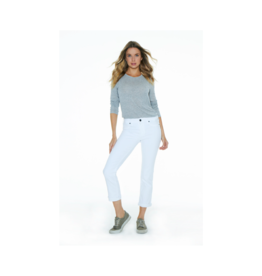 Parker Smith Courtney Cuffed Crop White