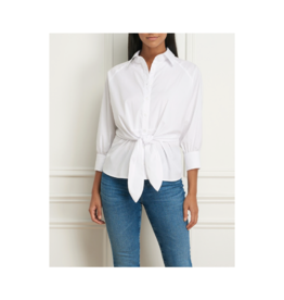 Iris Batwing Front Knot Button Blouse