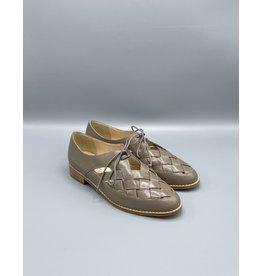 Lorraci Woven Almond Toe Tie Flat