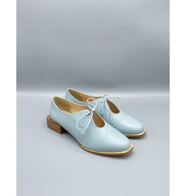 Lorraci Rounded Square Toe Tie Flat (2 Colours Available)