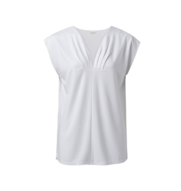 YaYa V-Neck Side Pleat Top (2 Colours Available)
