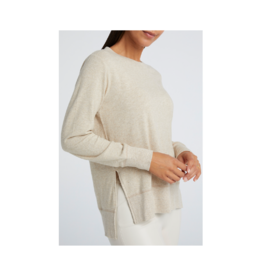 YaYa Boatneck Side Slit Sweater