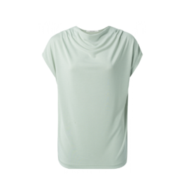 YaYa Mock/Cowlneck Cap Sleeve Top