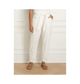 Iris Washed Linen Blend Paperbag Pant