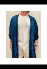 espy Hand Tie Dyed Short-Sleeve Robe