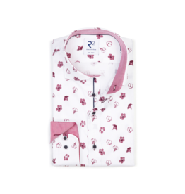 R2 Dusty Rose Floral Button Up