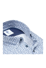 R2 Small Print Short-Sleeve Button Up