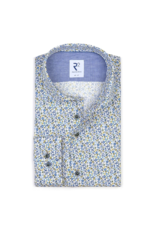 R2 Micro Floral Long-Sleeve Button Up