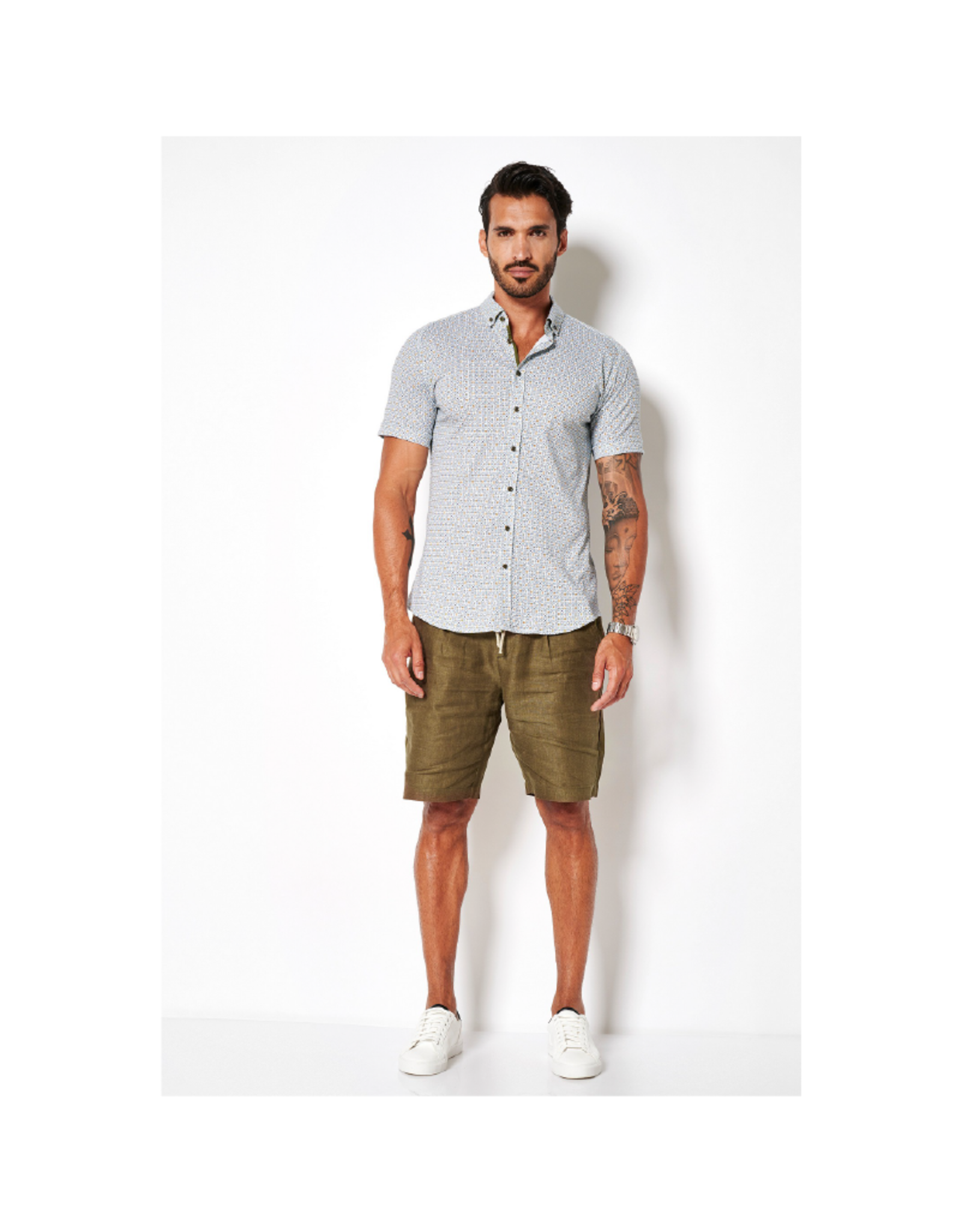 Desoto Square Short-Sleeve Button Up
